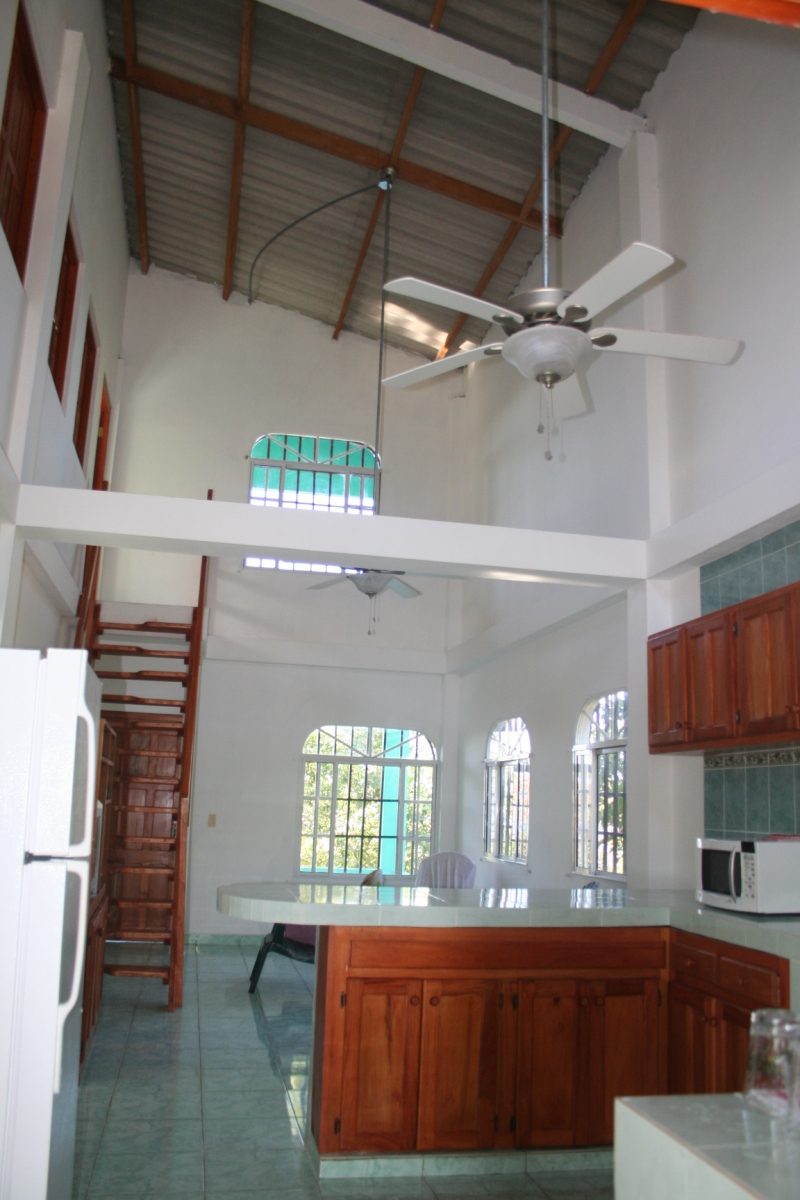 Kitchen and Living Area at La Casa Verede Panama